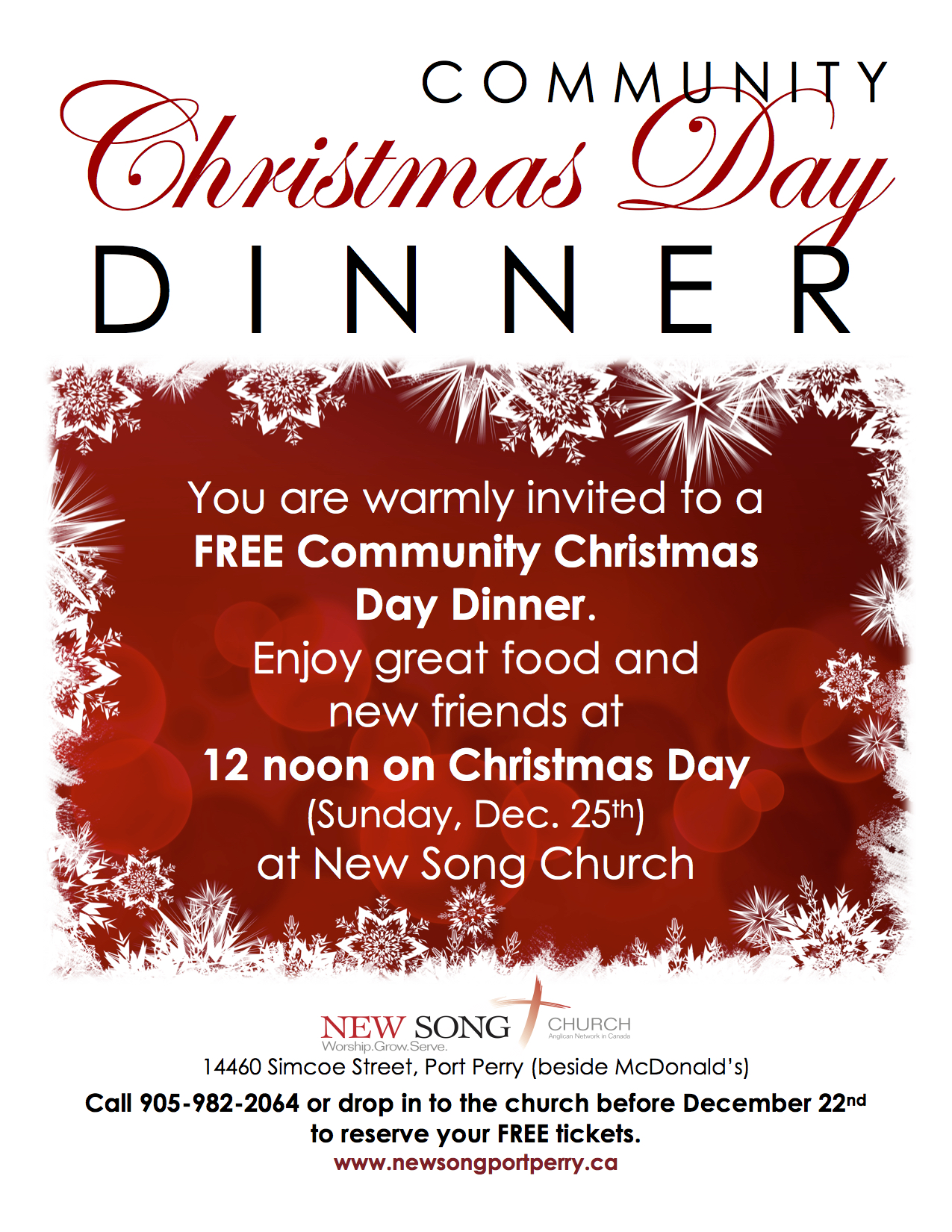 Church Christmas Dinner.Christmas Day Service Community Christmas Dinner New Song Church