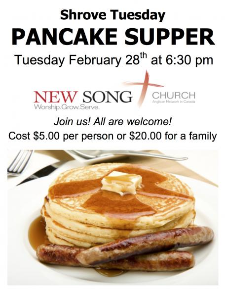 Pancake Supper @ New Song Church | Port Perry | Ontario | Canada